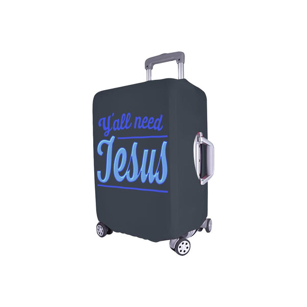 "Y'all Need Jesus Christian Travel Luggage Cover Suitcase Protector Fits 18""-28""-JoyHip.Com"