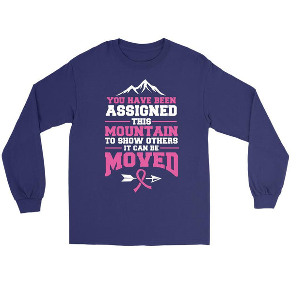 You Been Assigned This Mountain Show Others It Can Be Moved Cancer Long Sleeve-T-shirt-Gildan Long Sleeve Tee-Purple-JoyHip.Com