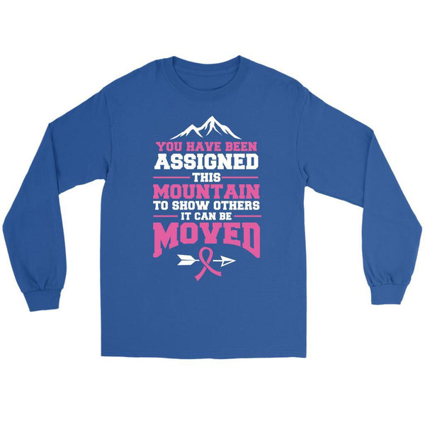 You Been Assigned This Mountain Show Others It Can Be Moved Cancer Long Sleeve-T-shirt-Gildan Long Sleeve Tee-Royal Blue-JoyHip.Com