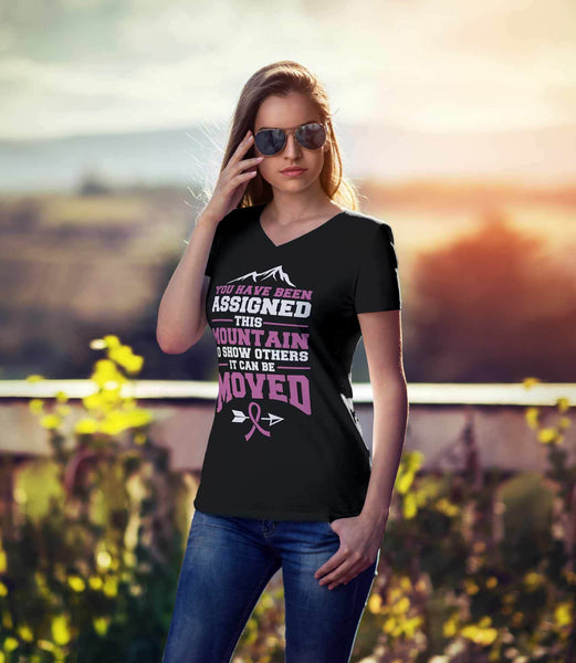 You Been Assigned This Mountain Show Others It Can Be Moved Cancer VNeck TShirt-T-shirt-JoyHip.Com