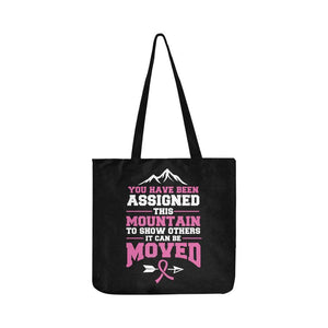 You Been Assigned This Mountain To Show It Can Be Moved Reusable Produce Bag-One Size-Black-JoyHip.Com