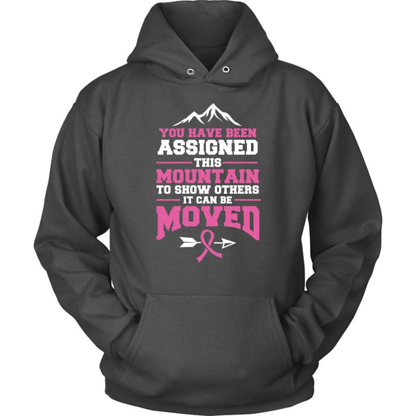 You Been Assigned This Mountain To Show Others It Can Be Moved Cancer Hoodie-T-shirt-Unisex Hoodie-Grey-JoyHip.Com