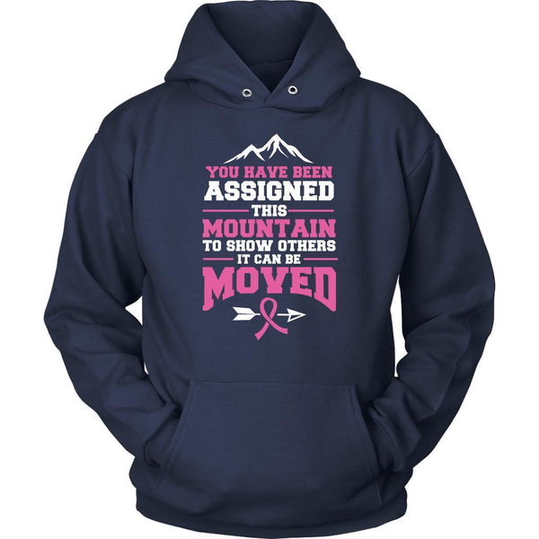 You Been Assigned This Mountain To Show Others It Can Be Moved Cancer Hoodie-T-shirt-Unisex Hoodie-Navy-JoyHip.Com