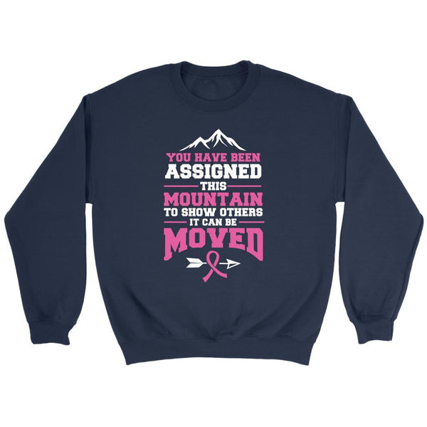 You Been Assigned This Mountain To Show Others It Can Be Moved Cancer Sweater-T-shirt-Crewneck Sweatshirt-Navy-JoyHip.Com