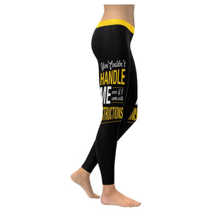 You Couldnt Handle Me Even If I Came With Instructions Soft Leggings For Women-XXS-Black-JoyHip.Com