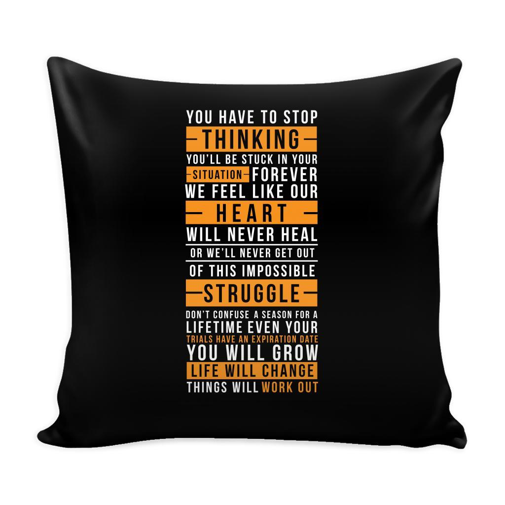You Don't Get What You Wish For You Get What You Work For Inspirational Motivational Quotes Decorative Throw Pillow Cases Cover(9 Colors)-Pillows-Black-JoyHip.Com