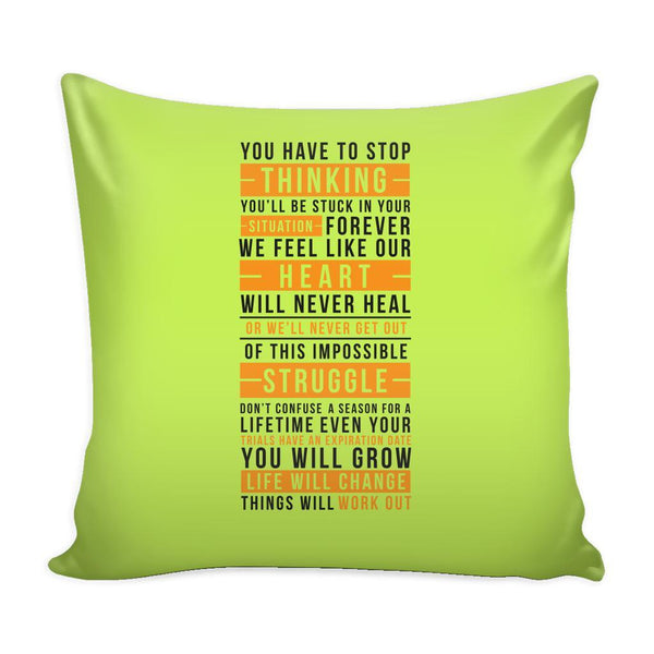 You Don't Get What You Wish For You Get What You Work For Inspirational Motivational Quotes Decorative Throw Pillow Cases Cover(9 Colors)-Pillows-Green-JoyHip.Com
