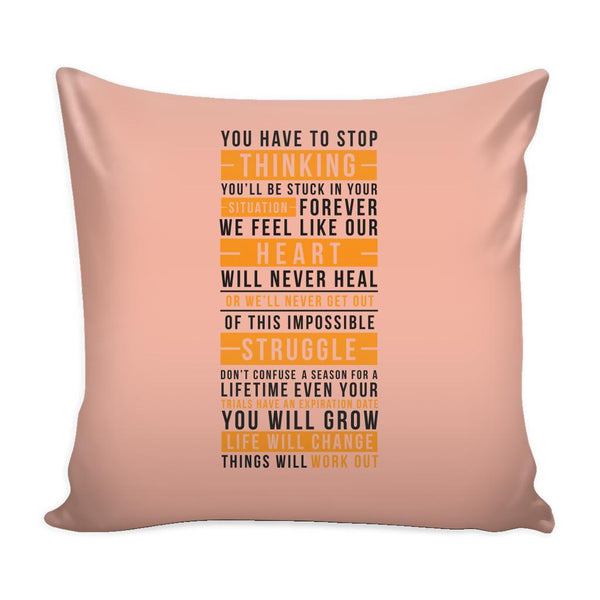 You Don't Get What You Wish For You Get What You Work For Inspirational Motivational Quotes Decorative Throw Pillow Cases Cover(9 Colors)-Pillows-Peach-JoyHip.Com