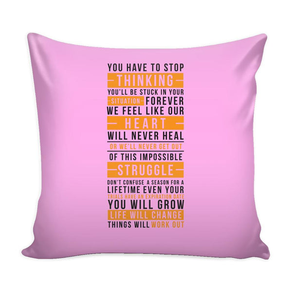 You Don't Get What You Wish For You Get What You Work For Inspirational Motivational Quotes Decorative Throw Pillow Cases Cover(9 Colors)-Pillows-Pink-JoyHip.Com