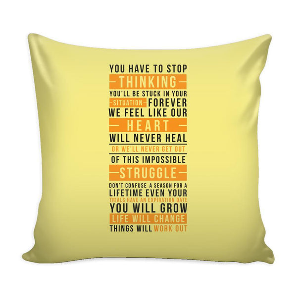 You Don't Get What You Wish For You Get What You Work For Inspirational Motivational Quotes Decorative Throw Pillow Cases Cover(9 Colors)-Pillows-Yellow-JoyHip.Com
