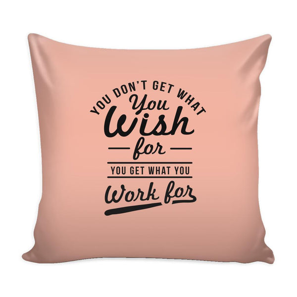 You Have To Stop Thinking You Will Grow Life Will Change Things Will Work Out Inspirational Motivational Quotes Decorative Throw Pillow Cases Cover(9 Colors)-Pillows-Peach-JoyHip.Com