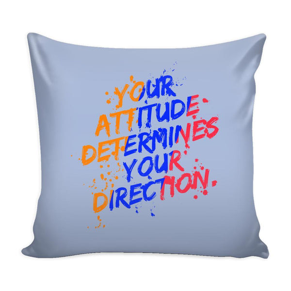 Your Attitude Determines Your Direction Inspirational Motivational Quotes Decorative Throw Pillow Cases Cover(9 Colors)-Pillows-Grey-JoyHip.Com