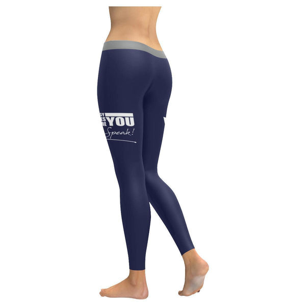 Your Energy Introduces You Before Even Speak Motivational Quotes Womens Leggings-JoyHip.Com