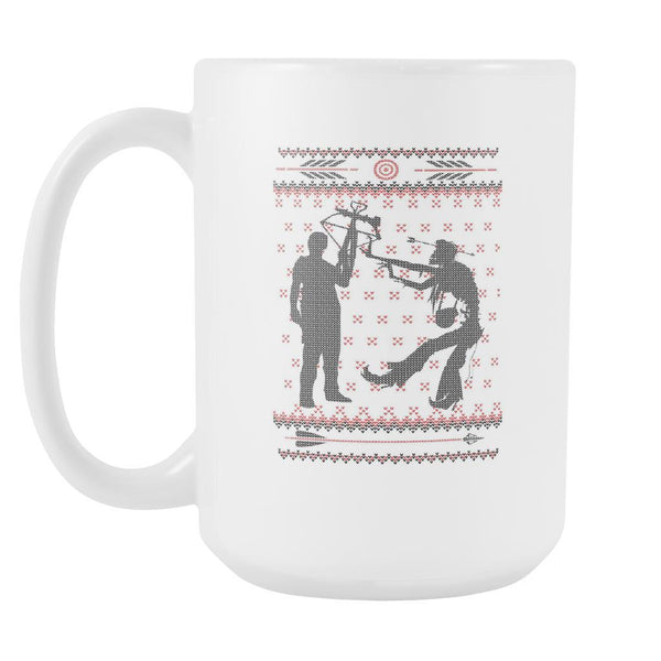 Zombie Ugly Christmas Sweater White 15oz Coffee Mug-Drinkware-Ugly Christmas Sweater White 15oz Coffee Mug-JoyHip.Com