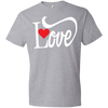 Love With Red Heart Tshirt - Truly Devoted Streetwear