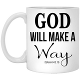 Coffee Mug - God WIll Make A Way - Truly Devoted Streetwear