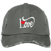 Distressed Cap - Love With Red Heart