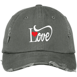 Distressed Cap - Love With Red Heart - Truly Devoted Streetwear