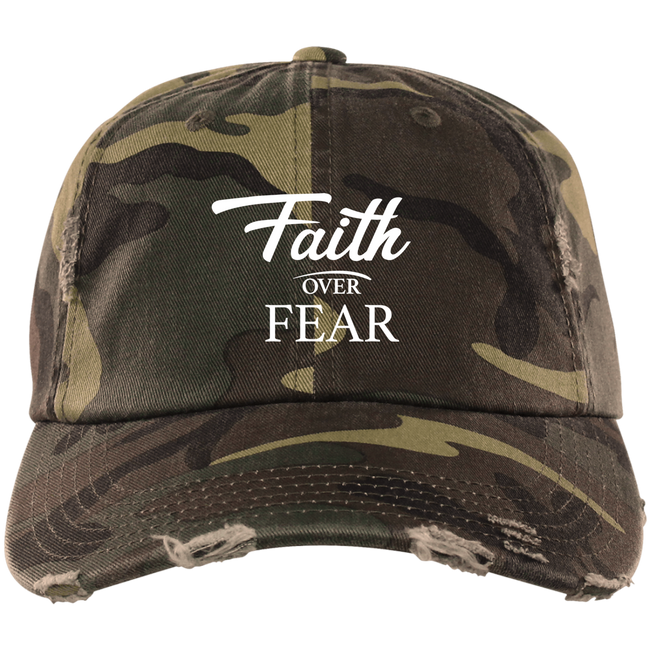 DISTRESSED CAP - Faith Over Fear