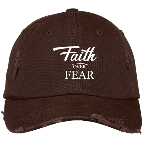 DISTRESSED CAP - Faith Over Fear - Truly Devoted Streetwear