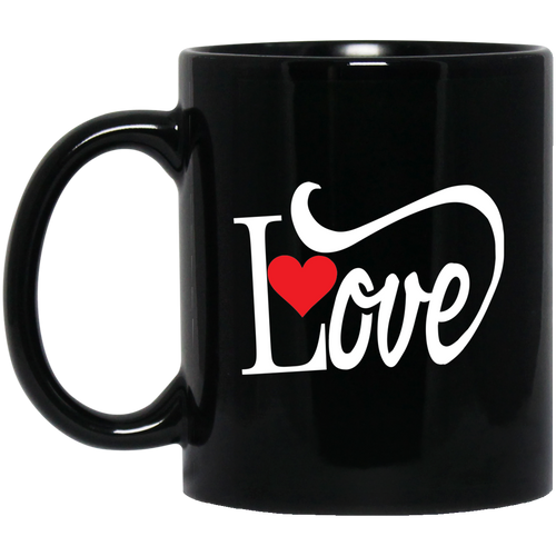 Coffee Mug -  Love With Red Heart