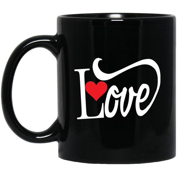 Coffee Mug -  Love With Red Heart - Truly Devoted Streetwear