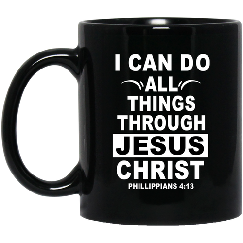 Coffee Mug - I Can Do All Thing Through Jesus Christ (White) - Truly Devoted Streetwear