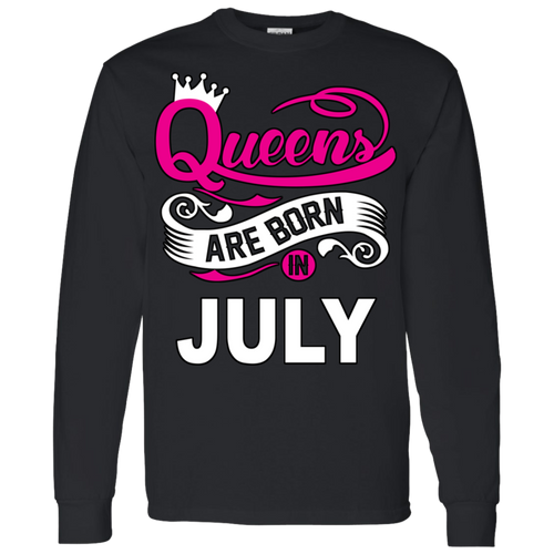 Queens Are Born In July Hoodie & Crewneck