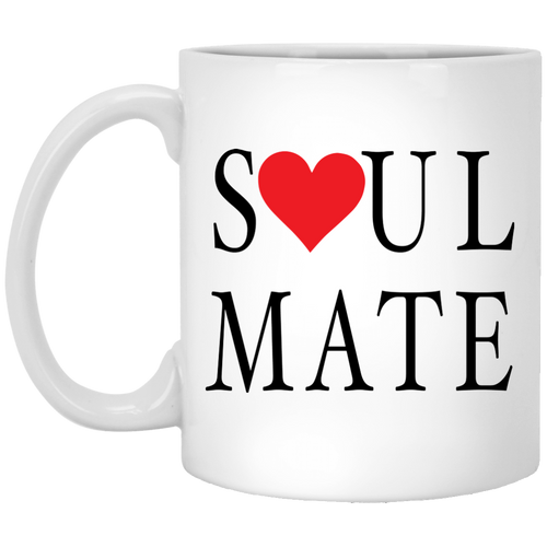 Coffee Mug - Soul Mate With Red Heart