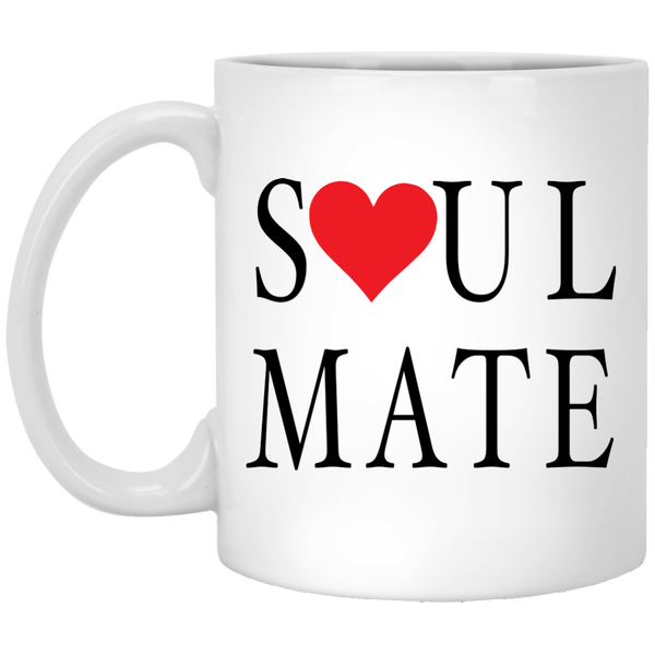 Coffee Mug - Soul Mate With Red Heart - Truly Devoted Streetwear