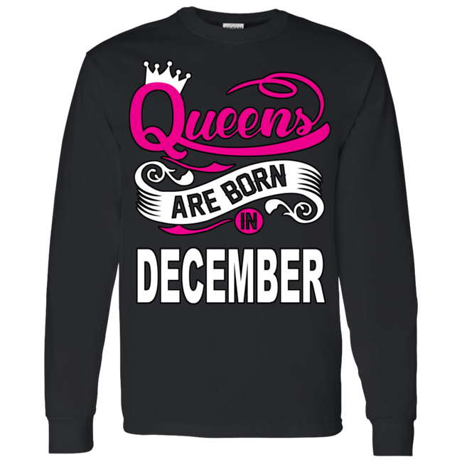 Queens Are Born In December Hoodie & Crewneck
