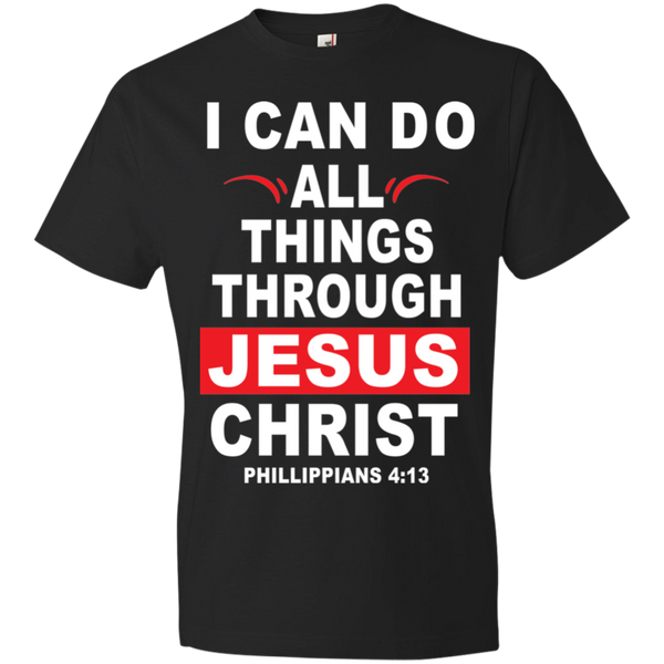 I Can Do All THing Through Jesus Christ Red Box Tshirt - Truly Devoted Streetwear
