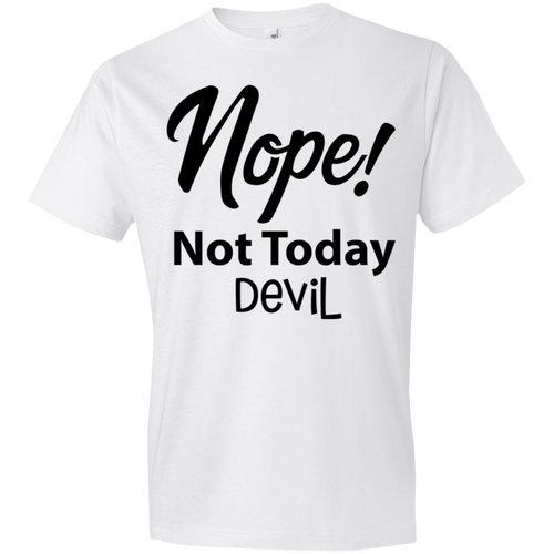 Nope not today devil black text - Truly Devoted Streetwear
