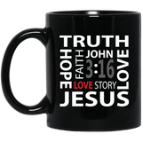 Coffee Mug - JOHN 3-16 - Truly Devoted Streetwear