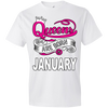 Queens Are Born In January Tshirt - Truly Devoted Streetwear