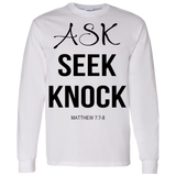 Ask Seek Knock Hoodie & Crewneck