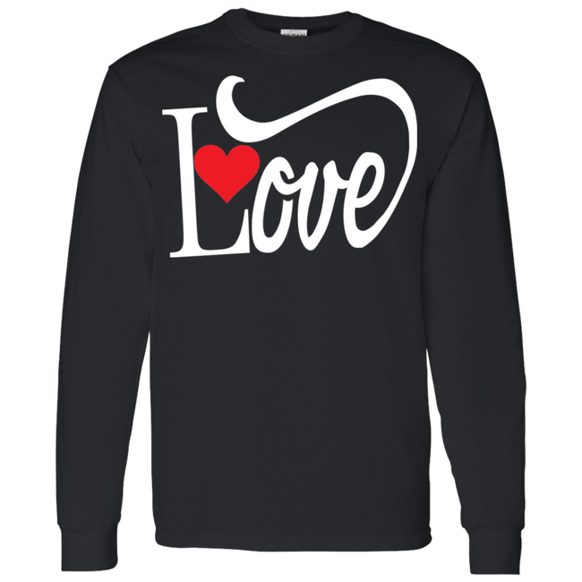 Love With Red Heart Hoodie & Sweatshirt