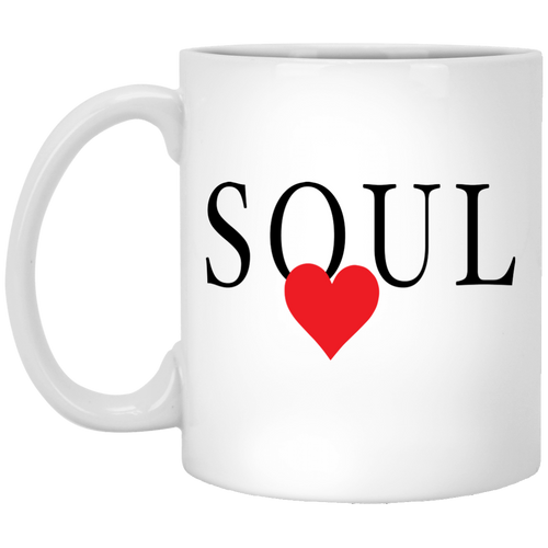 Coffee Mug - Soul With Red Heart - Truly Devoted Streetwear