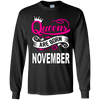 Queens Are Born In November (Youth) T-shirts/Hoodies - Truly Devoted Streetwear