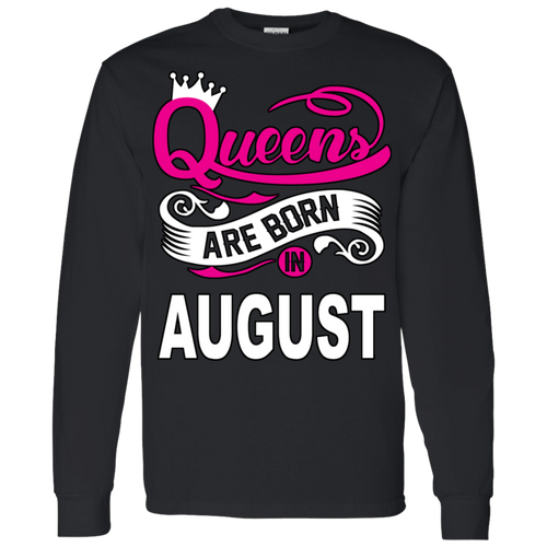 Queens Are Born In August Hoodie & Crewneck