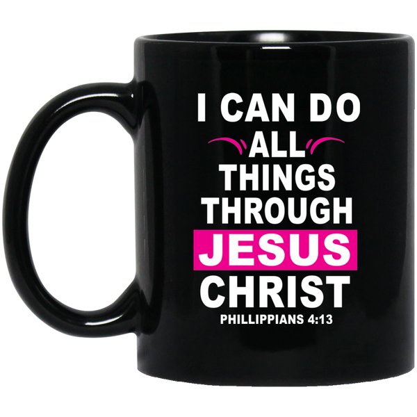 Coffee Mug - I Can Do All Thing Through Jesus Christ (Pink) - Truly Devoted Streetwear