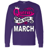 Queens Are Born In March Hoodie & Crewneck - Truly Devoted Streetwear