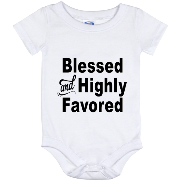 Blessed and Highly Favored White (Infant) Onesies - Truly Devoted Streetwear