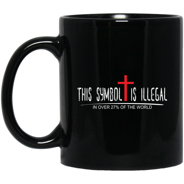 Coffee Mug - Symbol Is Illegal - Truly Devoted Streetwear