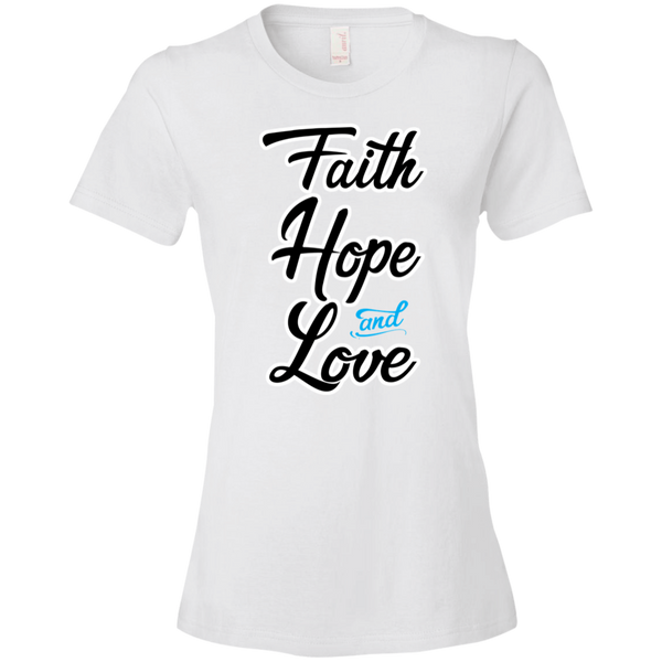 Faith Hope and Love Tshirt - Truly Devoted Streetwear