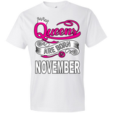 Queens Are Born In November Tshirt - Truly Devoted Streetwear