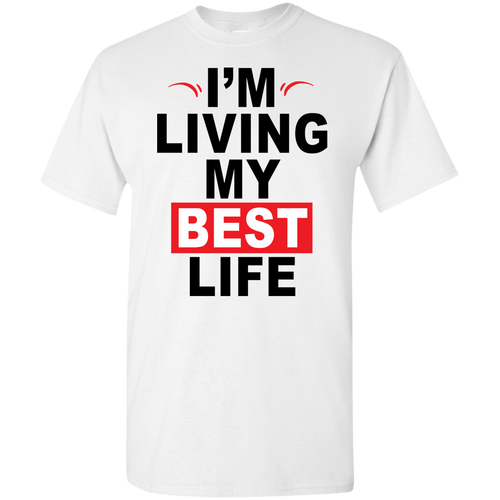 I'm Living My Best Life Black Letters (Youth) T-shirts & Hoodies