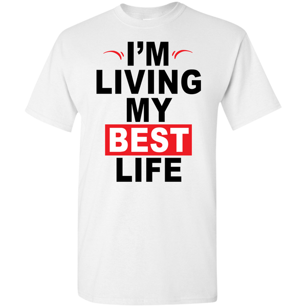 I'm Living My Best Life Black Letters (Youth) T-shirts & Hoodies - Truly Devoted Streetwear