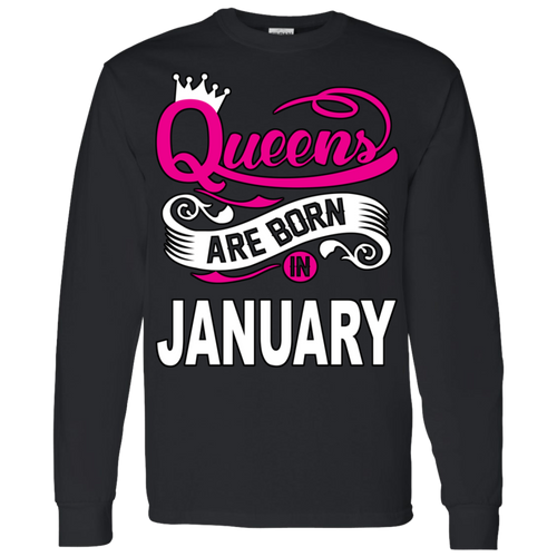 Queens Are Born In January Hoodie & Crewneck