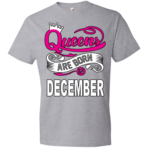 Queens Are Born In December Tshirt - Truly Devoted Streetwear